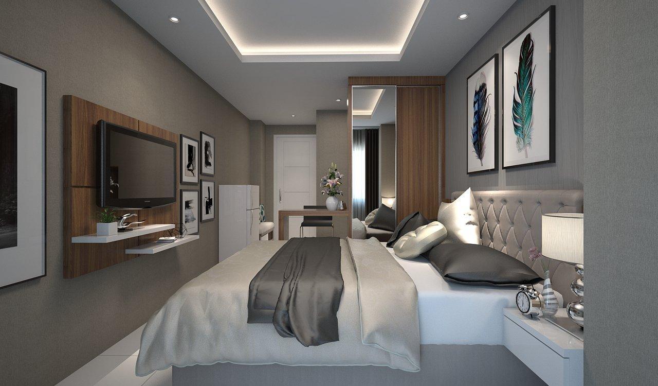 FCENTER Paket EXCUSIVE Furnish Apartment Studio 18 M2 Bonus TV/ AC/Kulkas/Bed Cover/Hiasan Dinding (PULAU JAWA*)