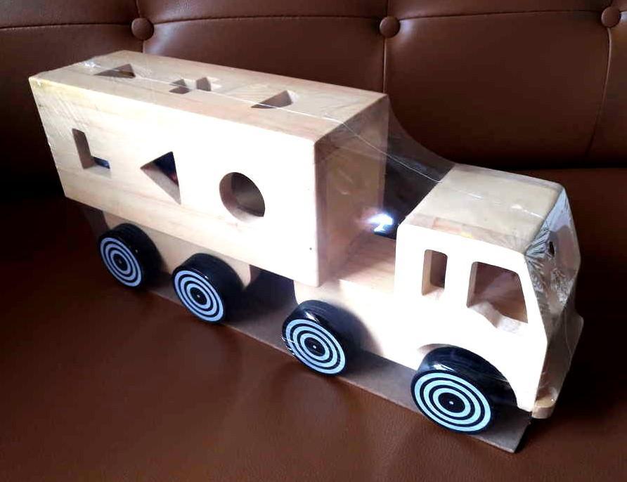 ... Indonesia Wooden Toys - Mainan Kayu Edukatif Truk Bentuk Geo - Sorting Truck - 4