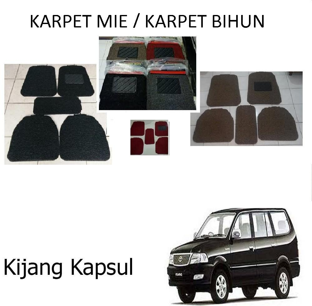 Karpet Mobil Kijang Kapsul / Car Carpet / Floor Mats Universal Model Mie Keriting