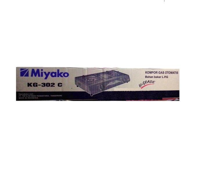 PROMO MIYAKO Kompor Gas 2 Tungku KG-302C TERLARIS