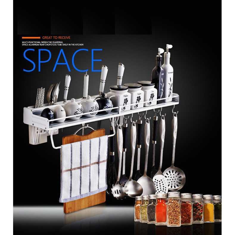 Best Seller!!! rak ambalan sendok design ambalan besi anti karat dapur bumbu gantung Unik Murah Minimalis