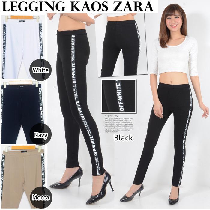 celana legging panjang jumbo ukuran 31-34 kaos zara