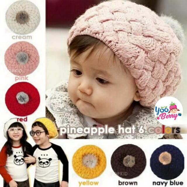 YooBerry Korean Pineapple Hat Topi Rajut Bayi & Anak