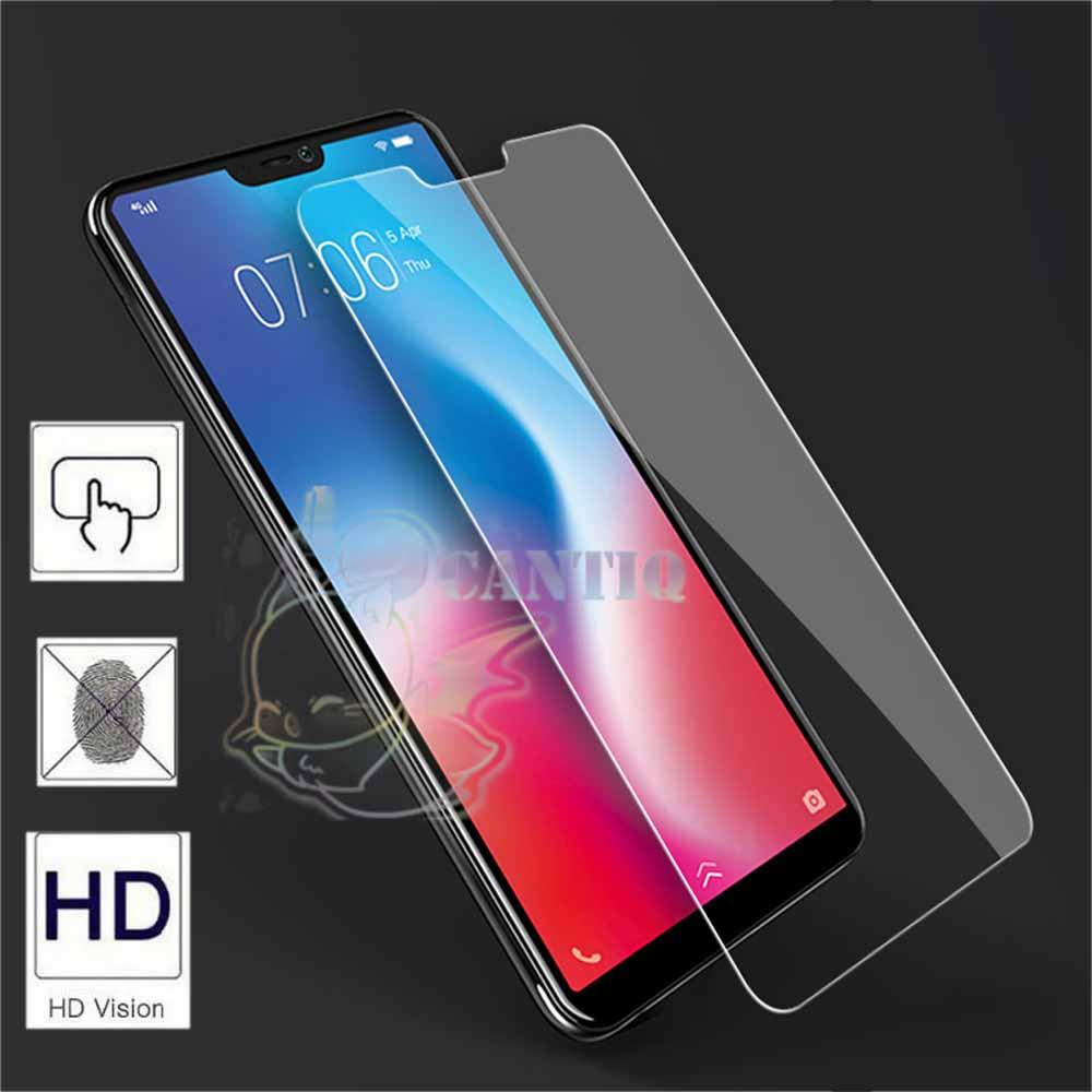QCF Tempered Glass Vivo V9 2018 / Anti Gores Kaca Vivo V9  / Temper Glass Vivo V 9 2018 / Screen Protector Vivo V9 / Pelindung Layar Vivo / Screen Guard Vivo V9 - Clear