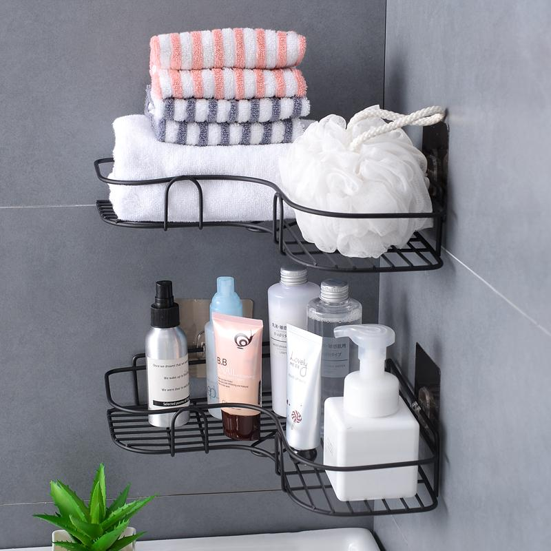 -free Punched Corner Storage Shelf Bathroom Xi Shu Jia Bathroom Seemless Wall Hangers Tripod Storage Rack By Taobao Collection.