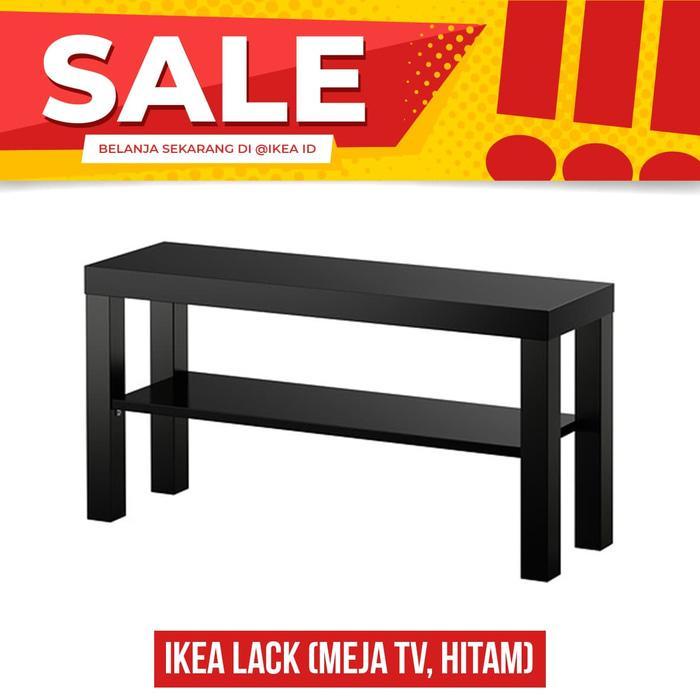 IKEA LACK Meja TV, Hitam, Mudah dirakit .