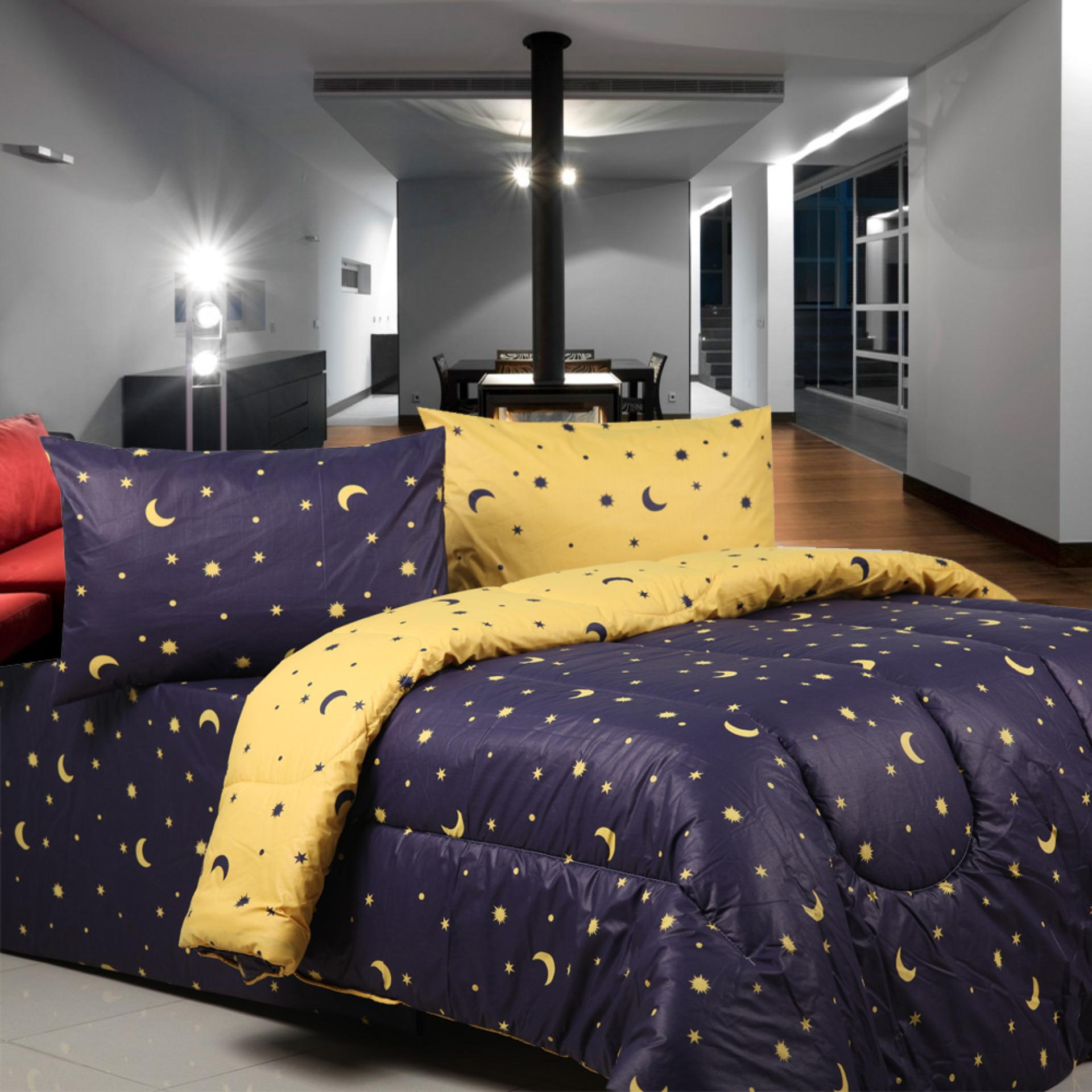 Jual Comforters Quilts Kasur V Bed Sprei Hello Kitty Extra King Size 200x200 Sierra Starry Night Navy X Kuning