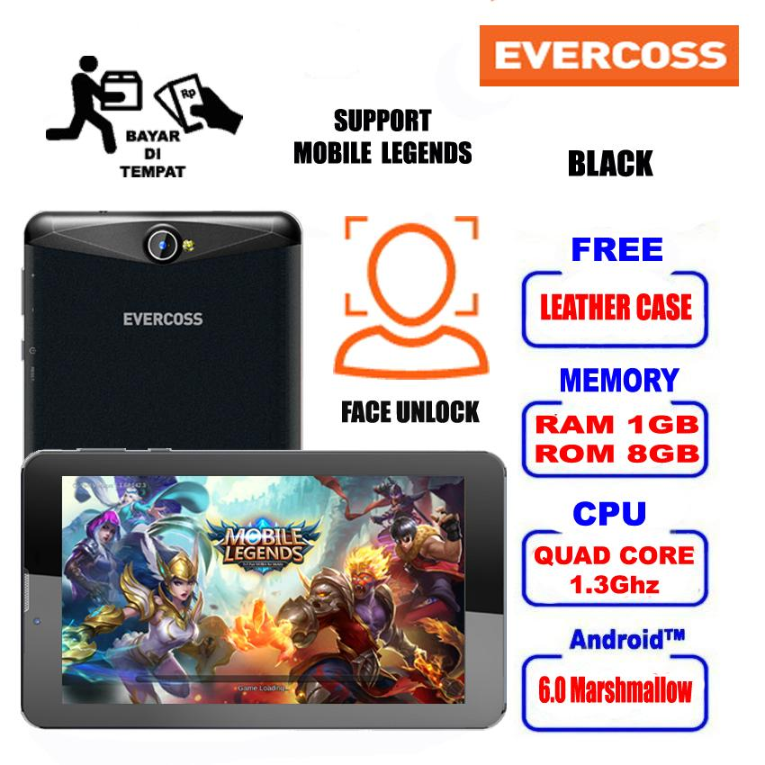 EVERCOSS Tablet R70A Mobile Legend 600p 8GB 3G HSDPA Free Leather Case