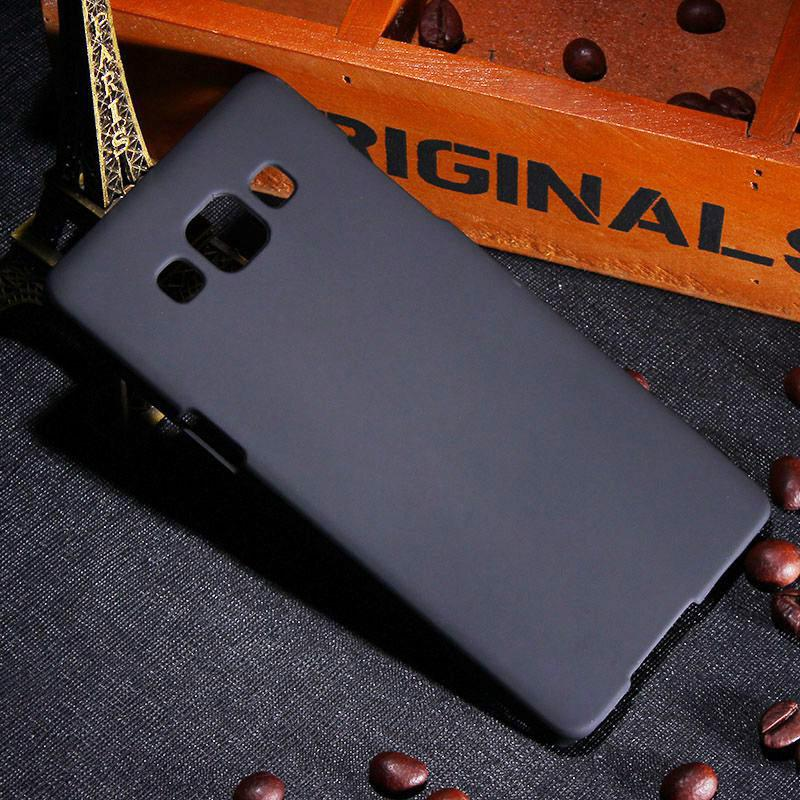 Black Rubber Hard Case Casing for Samsung Galaxy A3 A300 2015