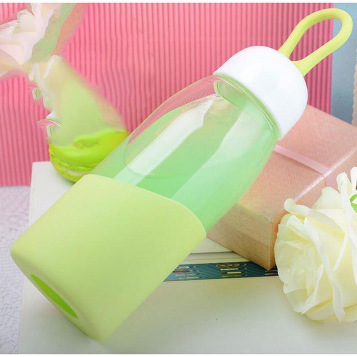 Botol Minum Mini Lanyard Lucu 400Ml - Green