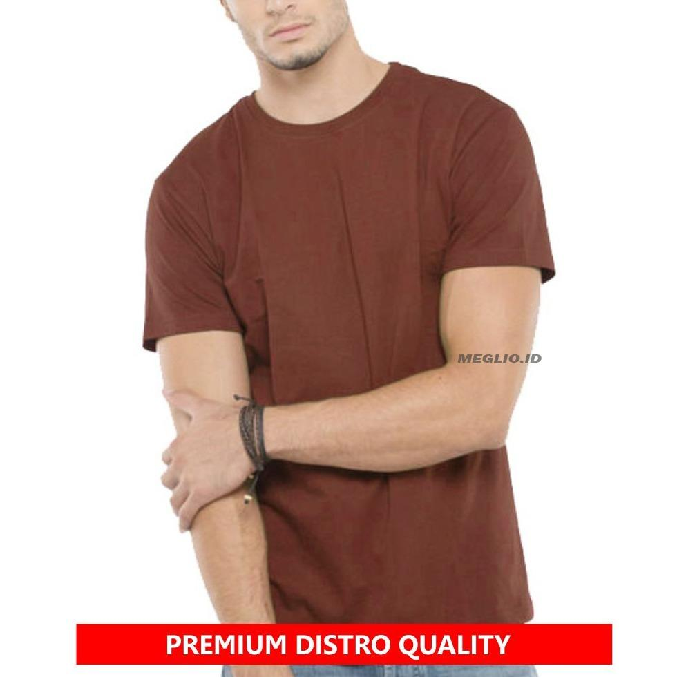 Meglio Kaos Polos Pria Premium-Kaos Distro Polos Coklat