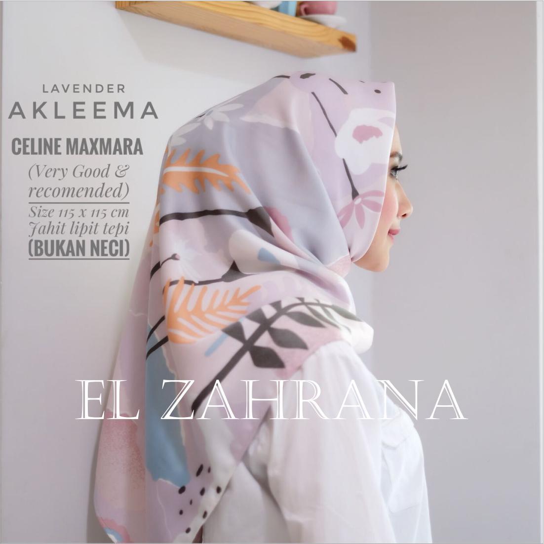 El Zahrana Hijab -  Kerudung Segi Empat - Jilbab Segi Empat - Jilbab Motif Premium Square - Maxmara Lux