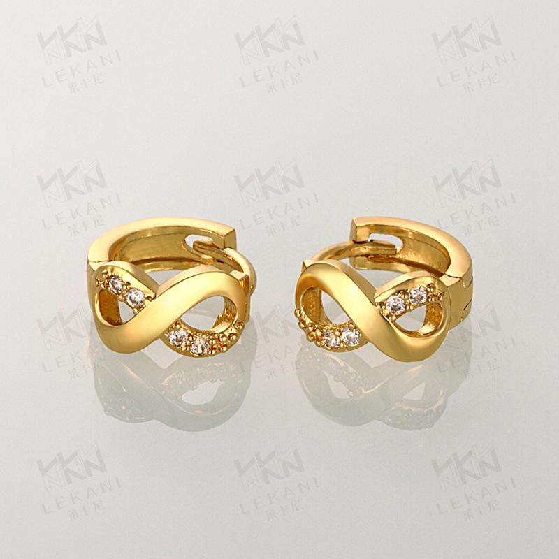 New Zircon Earrings Jewelry Temperament Female Rose Gold Earrings Personalized Earrings (kzce045-A) By Fishonsky.