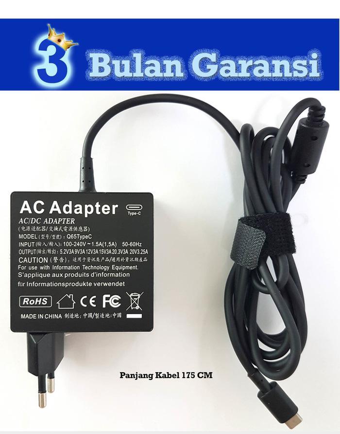 Charger Adaptor USB C 65W Asus Zenbook UX490, UX490U, UX490UA