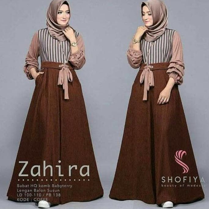 Zahira Dress Murah - Grosir Busana Muslim / Gamis Wanita Balotelli Ghtsyh