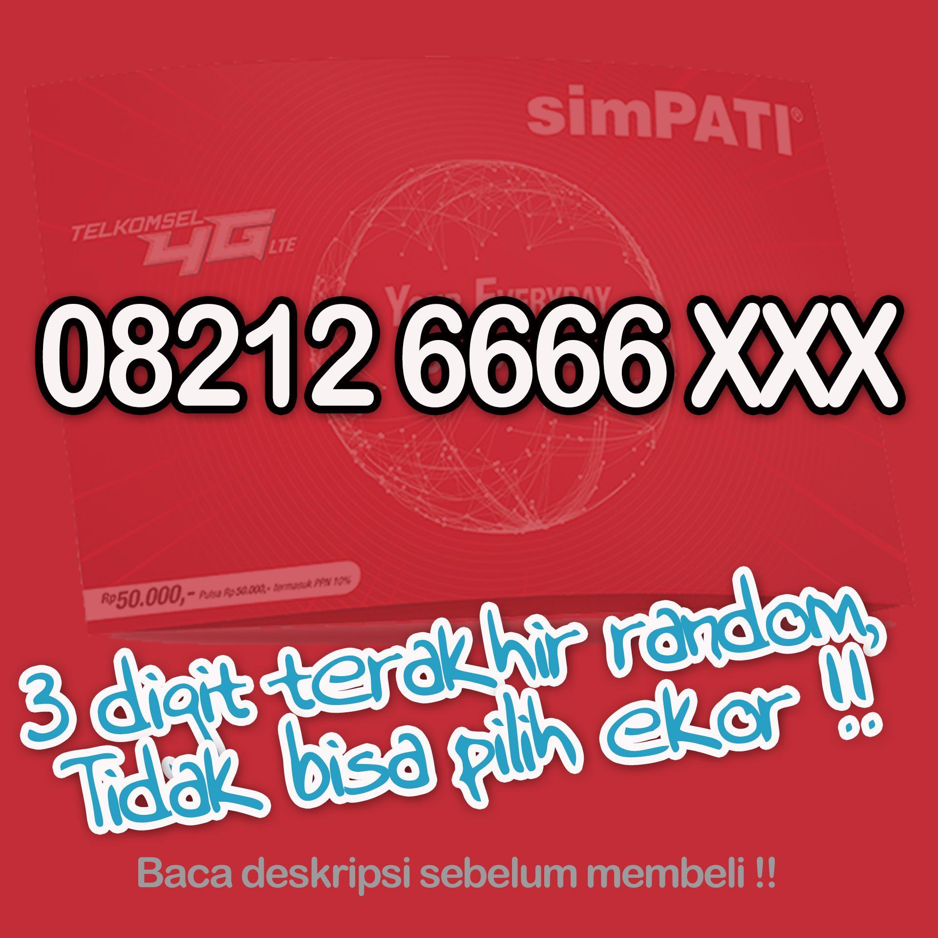08212 6666 xxx Perdana Nomor Cantik Telkomsel 4G