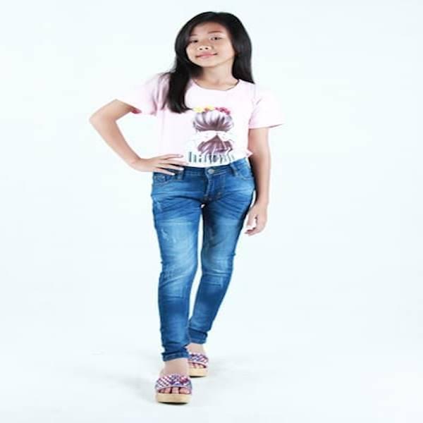 ... JSK 1207 Jeans Remaja Celana Jeans Panjang Remaja Perempuan Keren Size 24 Biru
