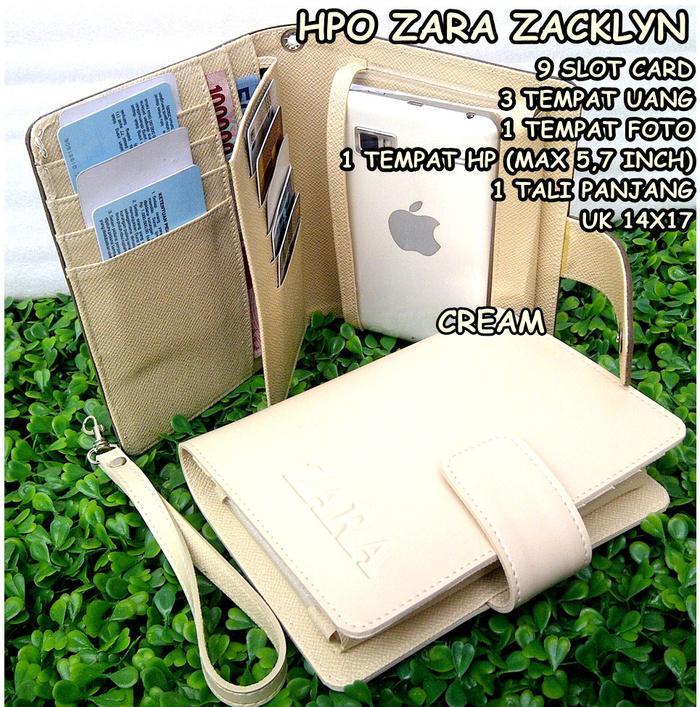 PROMO!!! DOMPET HPO WANITA MURAH HARGA GROSIR ZARA ZACKLYN CREAM (Z10, ANDROID, SAMSUNG S4 NOTE III IPHONE) MAX 5,7 INCHH - BkxVJ8