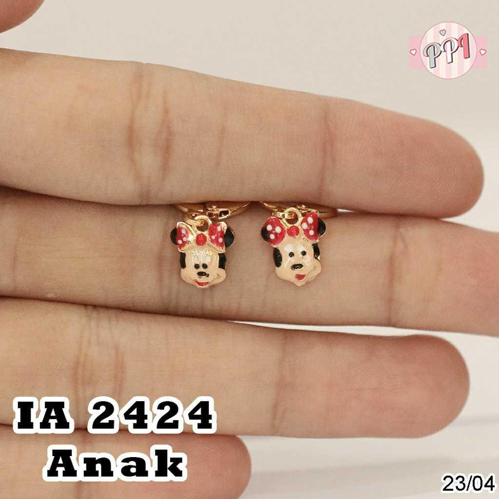 Anting HK Cat Lapis Emas A 2424 Anak | Style