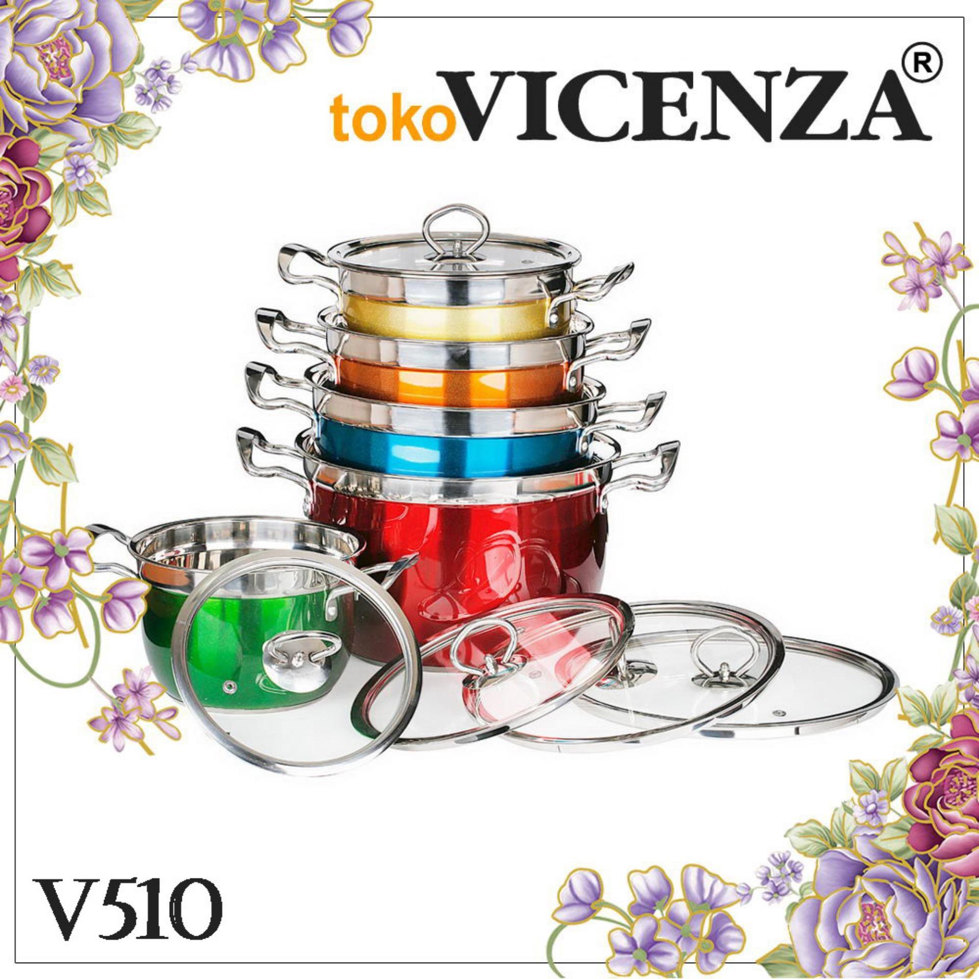Vicenza Panci Rainbow Set  - Panci Warna Warni V510