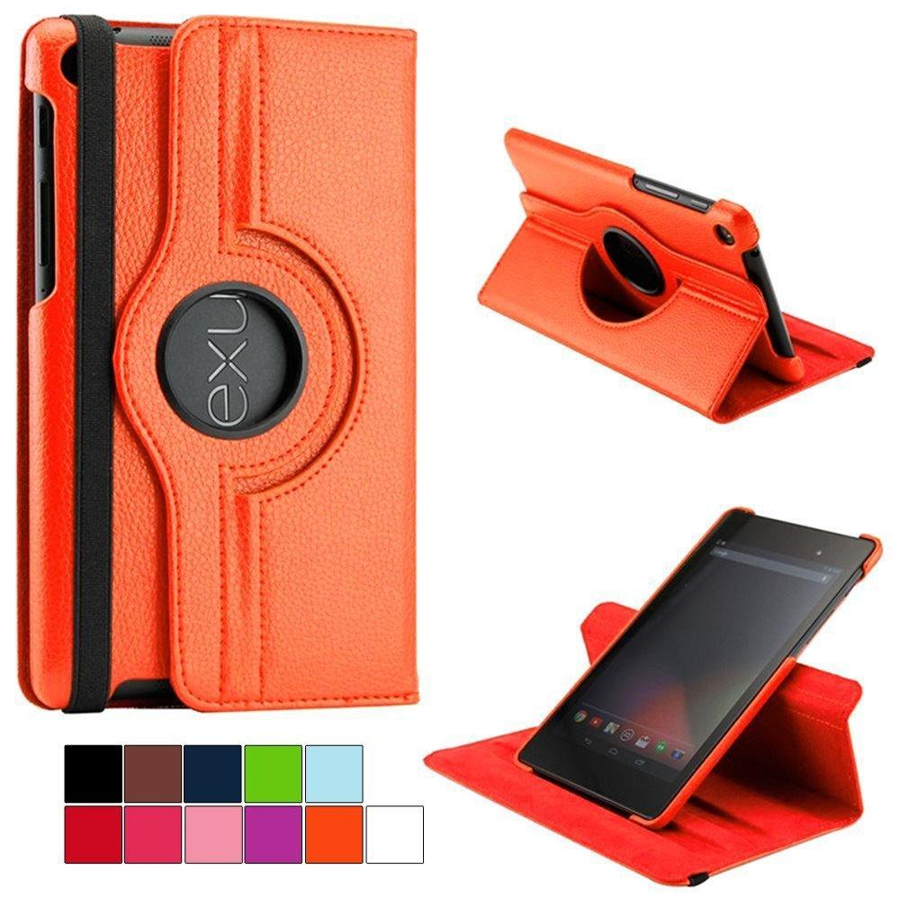MR Asus Google Nexus 7 Rotary Rotate Leather Case Flipcover Asus Google Nexus 7 Sarung HP Asus Google Nexus 7 Cover Kulit Asus Google Nexus 7 Dompet Kulit Asus Google Nexus 7 - Coklat