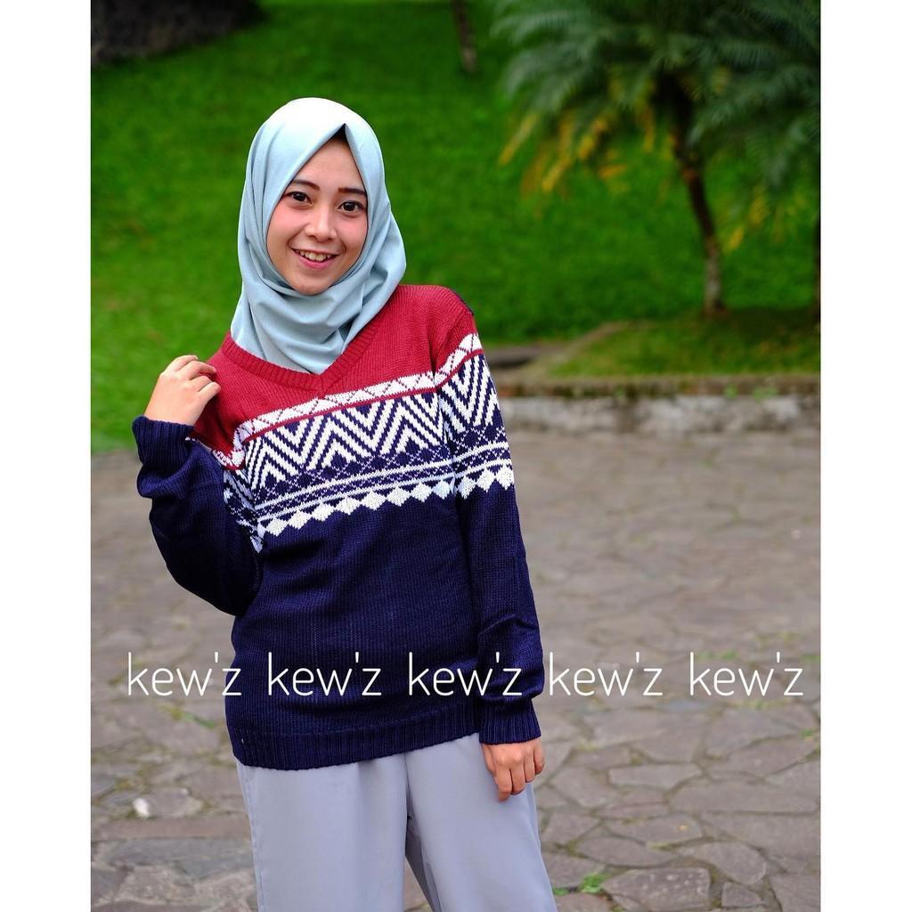 Jual Tunik/Baju Wanita/Baju Atasan/Sweater Columbus Navy Tribal
