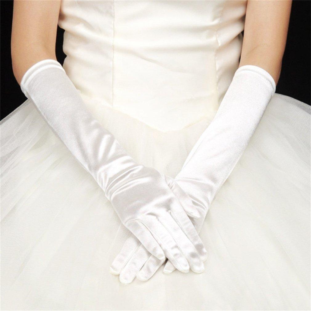 Seksi Wanita Panjang Katun Pencampur Malam Club Sarung Tangan Panjang Prom Tangan Lebih Hangat Sarung Tangan