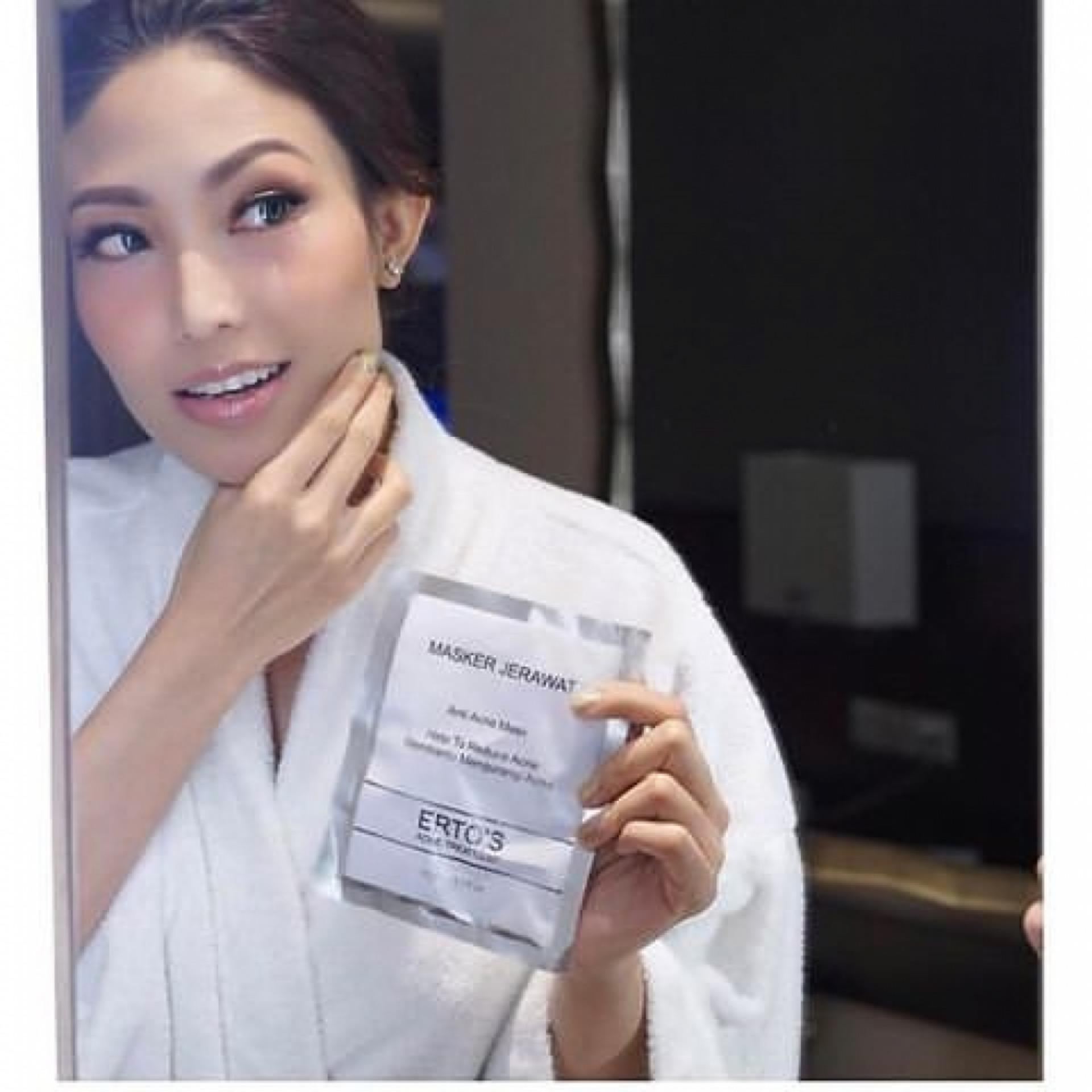 Cek Harga Baru 2 Pcs Ertos Masker Jerawat Original Bpom 100 Ampuh Pembersih Wajah Anti Acne Face Mask Skincare