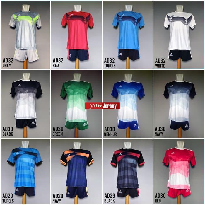Baju Kaos Setelan Jersey Bola Futsal Adidas Nike Puma Under Armour