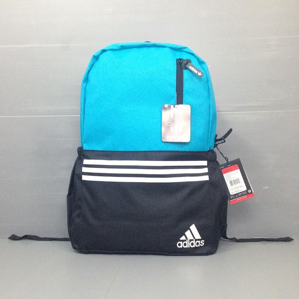 Tas Ransel Adidas 3 Strip Tosca - Adidas - Sekolah - Distro Tas Punggung Backpack Grosir Murah