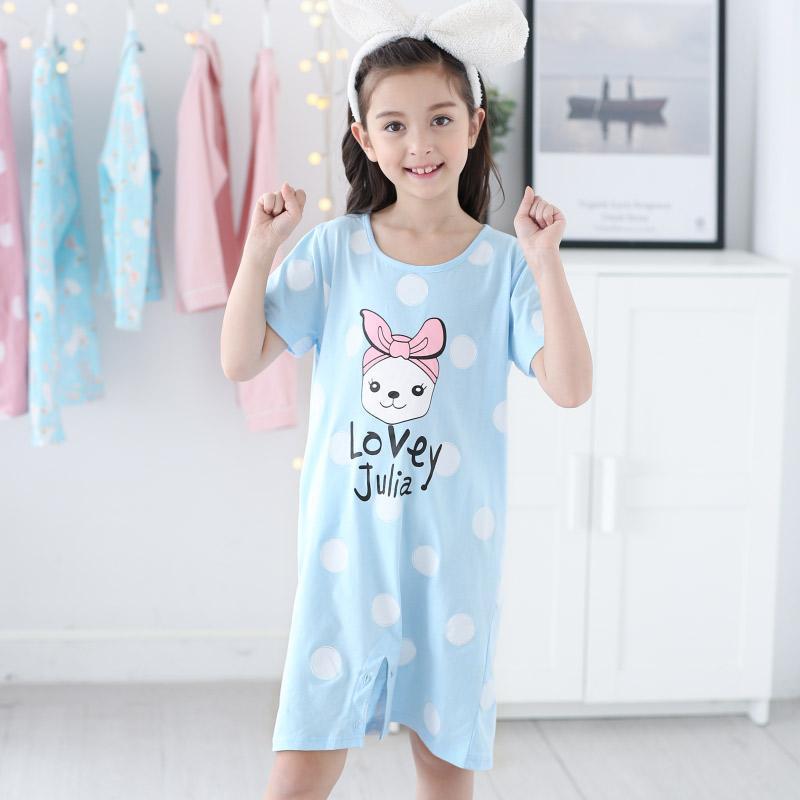 Nơi bán 100% Cotton Mùa Hè Loại Mỏng Ngắn Tay Váy Ngủ Áo Ngủ