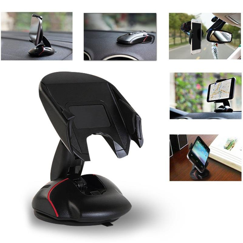 Gambar Produk Rinci Universal Deformable Mouse Car Holder Dashboard and Windshield Phone Holder for All Mobile