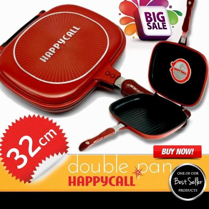 HAPPY CALL 32 CM Panci teflon double pan bisa tuk alat panggang grill
