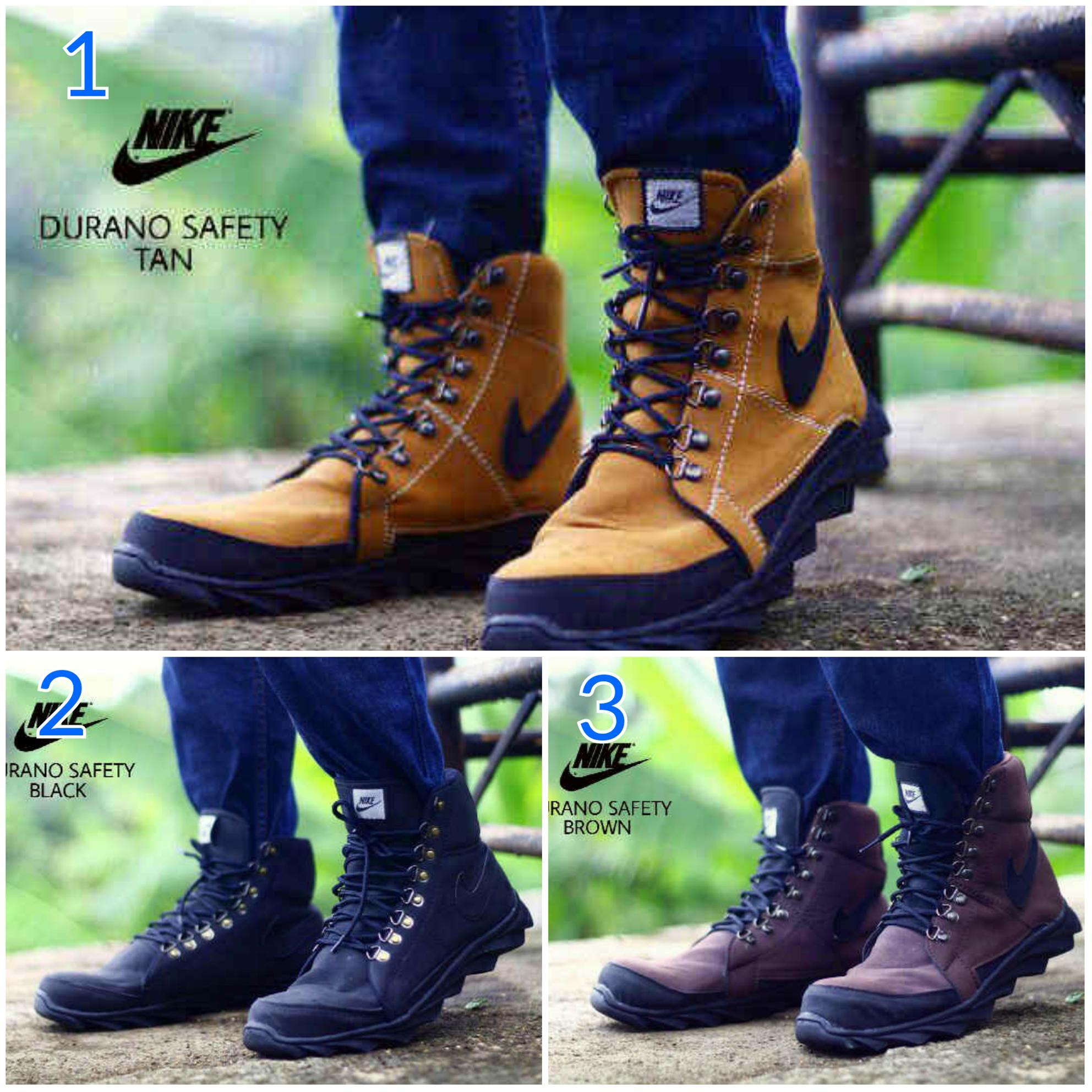 Agen Sepatu Boot Nike Terlaris Boots California Safety Tracking Ujung Besi Promo Pria Durano Kulit Buck Hiking Kerja Diskon