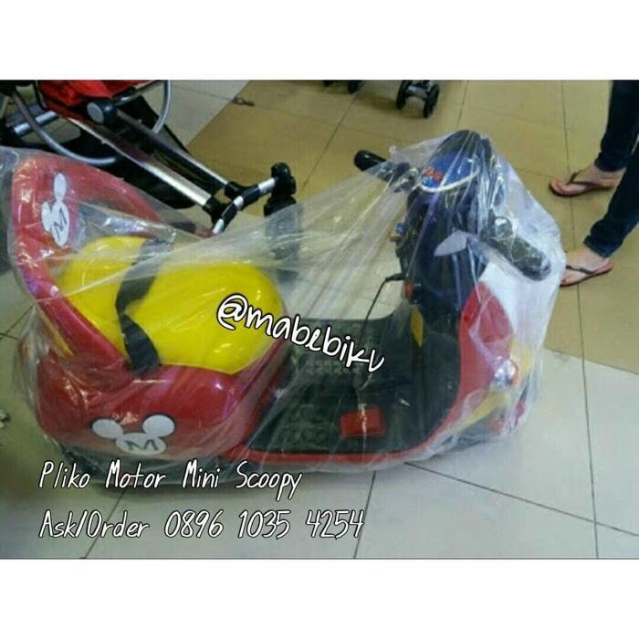Pliko Mainan Motor Aki Mini Scoopy Mickey