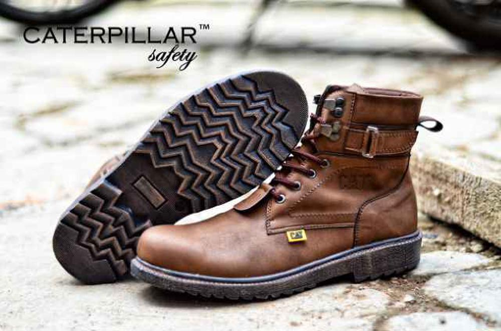 Promo CATERPILLAR BOOTS SAFETY BROWN Fashion