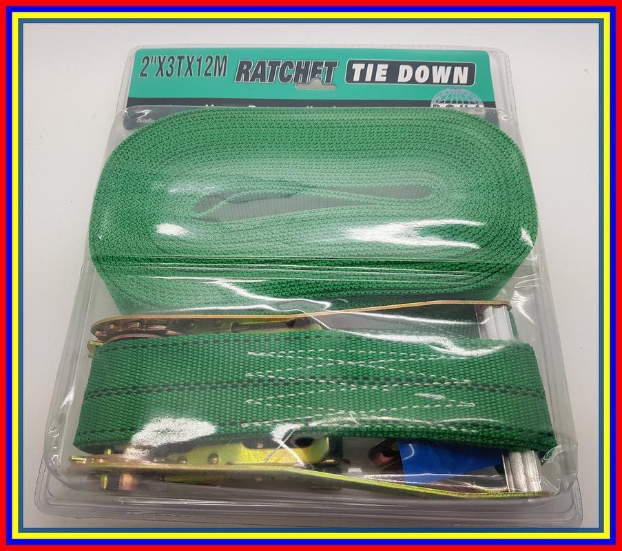 2 X 3 Ton X 12 Meter Tali Pengikat Barang Ratchet Tie Down Set