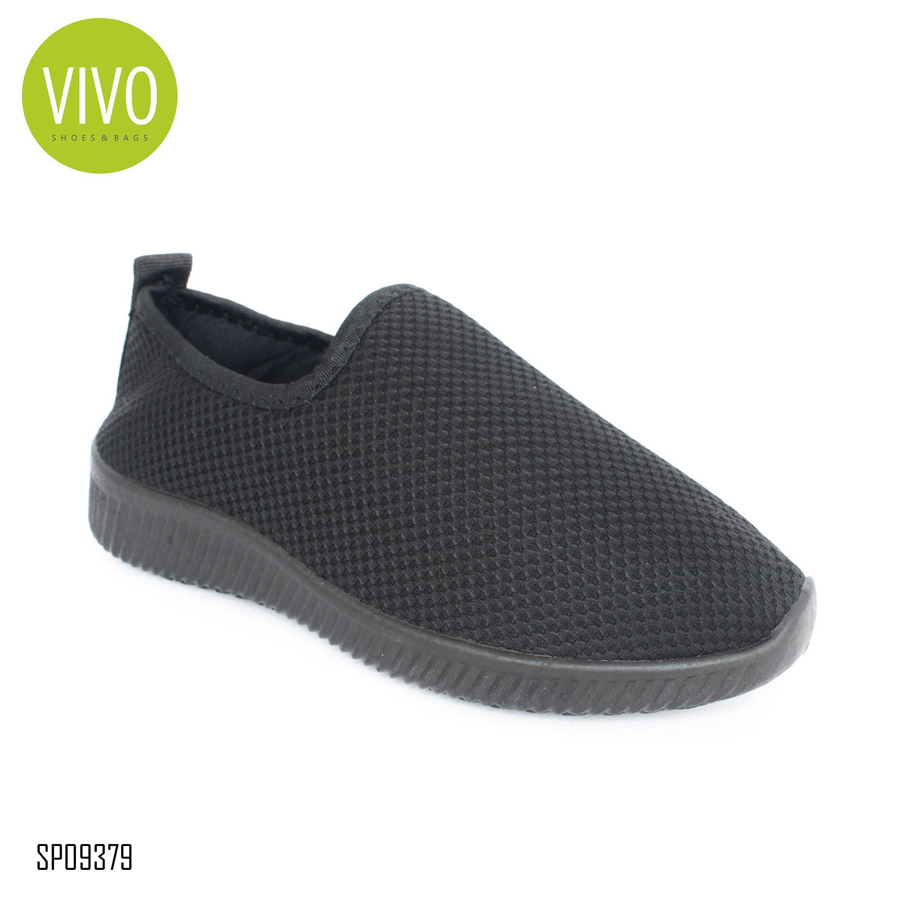 Vivo Fashion Sepatu Wanita/ Flat Shoes Wanita/ Sepatu Slip On Wanita/ Sepatu Casual Wanita/ Sepatu Sport Wanita SP09379 - Black Size 36/40
