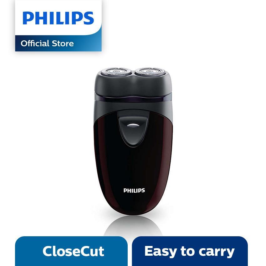 Philips Shaver PQ206 - Hitam-Maroon