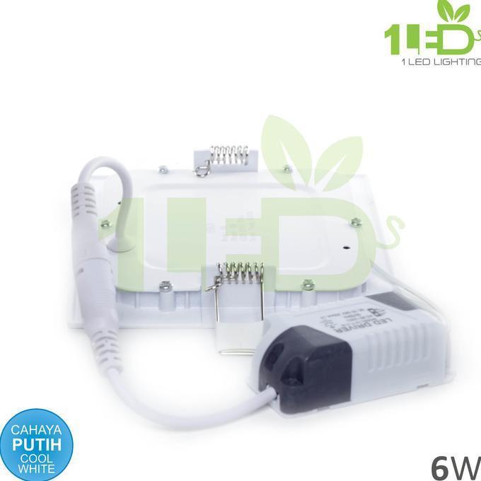 BEST SELLER Lampu Downlight Kotak LED Panel 6W Putih 6 W Watt 6Watt Tipis
