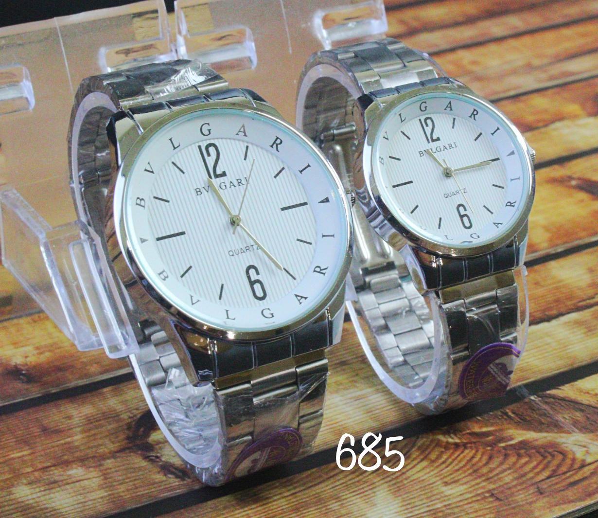 jam tangan couple Bvlgari / jtr 685 white NEW
