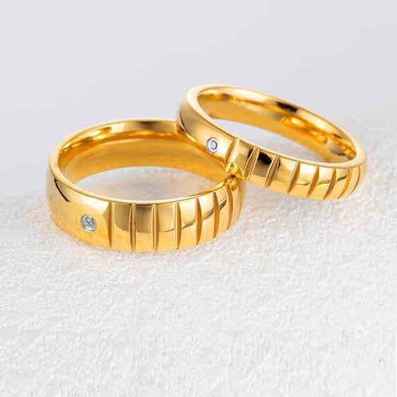 Titanium Cincin Couple - Cincin Tunangan - Cincin Nikah CC112