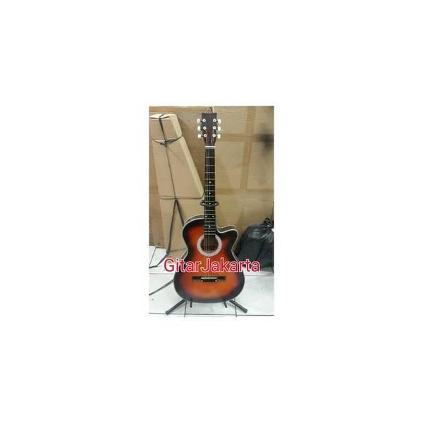 Gitar Akustik Yamaha Coklat Murah Buat Pemula Belajar Atau Buat Kado