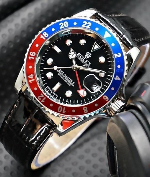 Jam Tangan Pria / Cowok Rolex Submariner Rolex GMT Kulit Automatic