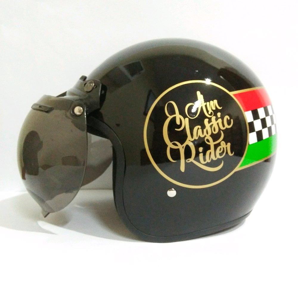 Helm Retro Bogo Classic Rider SNI di lapak vale46_helmet uniequrro_