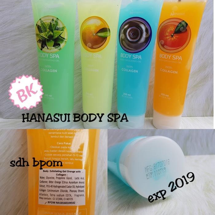 TIDAK BISA PILIH WARNA / MOTIF - Hanasui Body Exfoliating Gel Original - Hanasui Body Spa