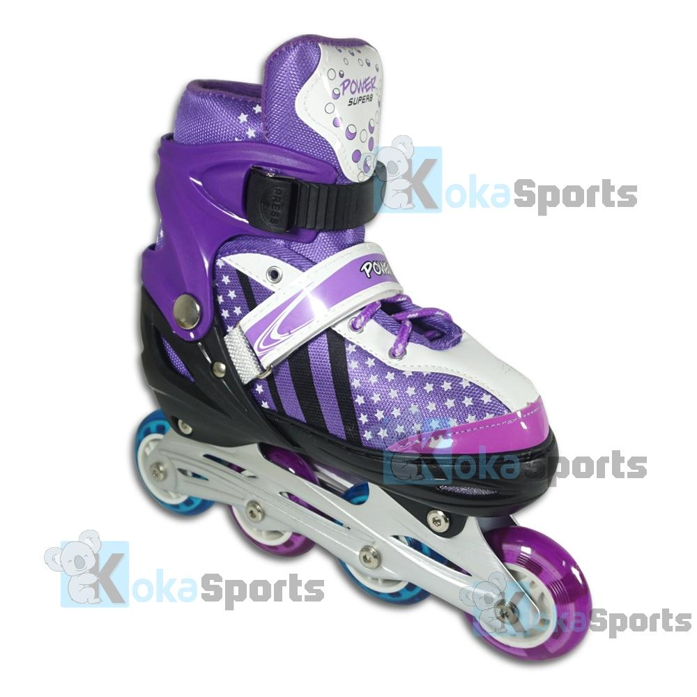 Power Sport In Line Skate Sepatu Roda 2 In 1 Adjustable Wheel Biru ... b37ce11d7a