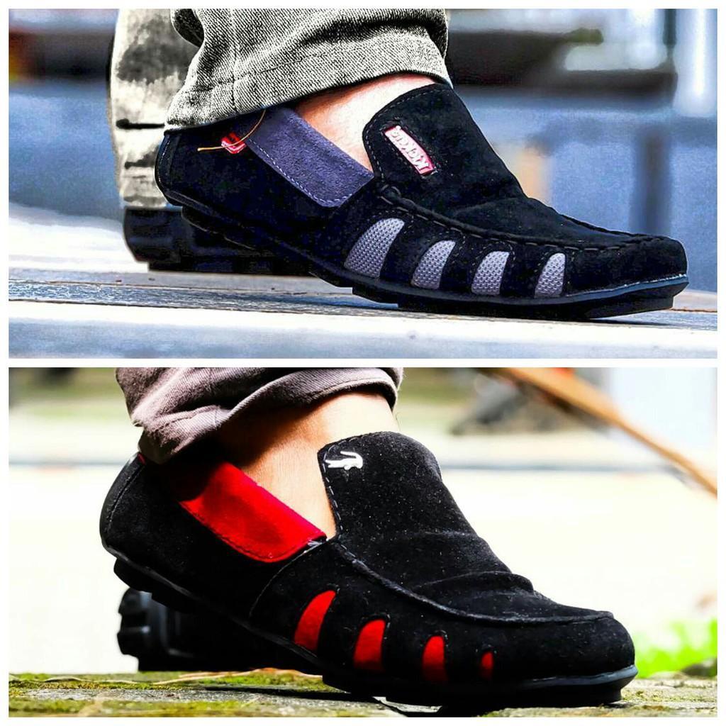 Sepatu Kickers Crocodile Casual Pria Kulit Suade Formal Slop Kerja Kantor  Pria Promo Murah Terlaris 98ac6cbe51