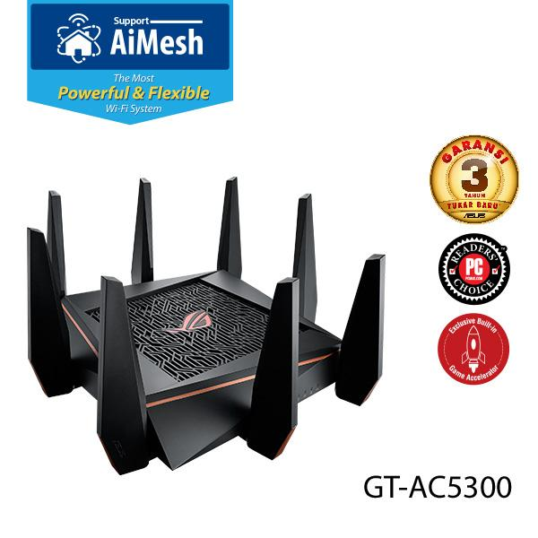 ASUS Wireless ROG Rapture GT-AC5300 Tri-Band AC5300 WiFi Gaming Router AiMesh