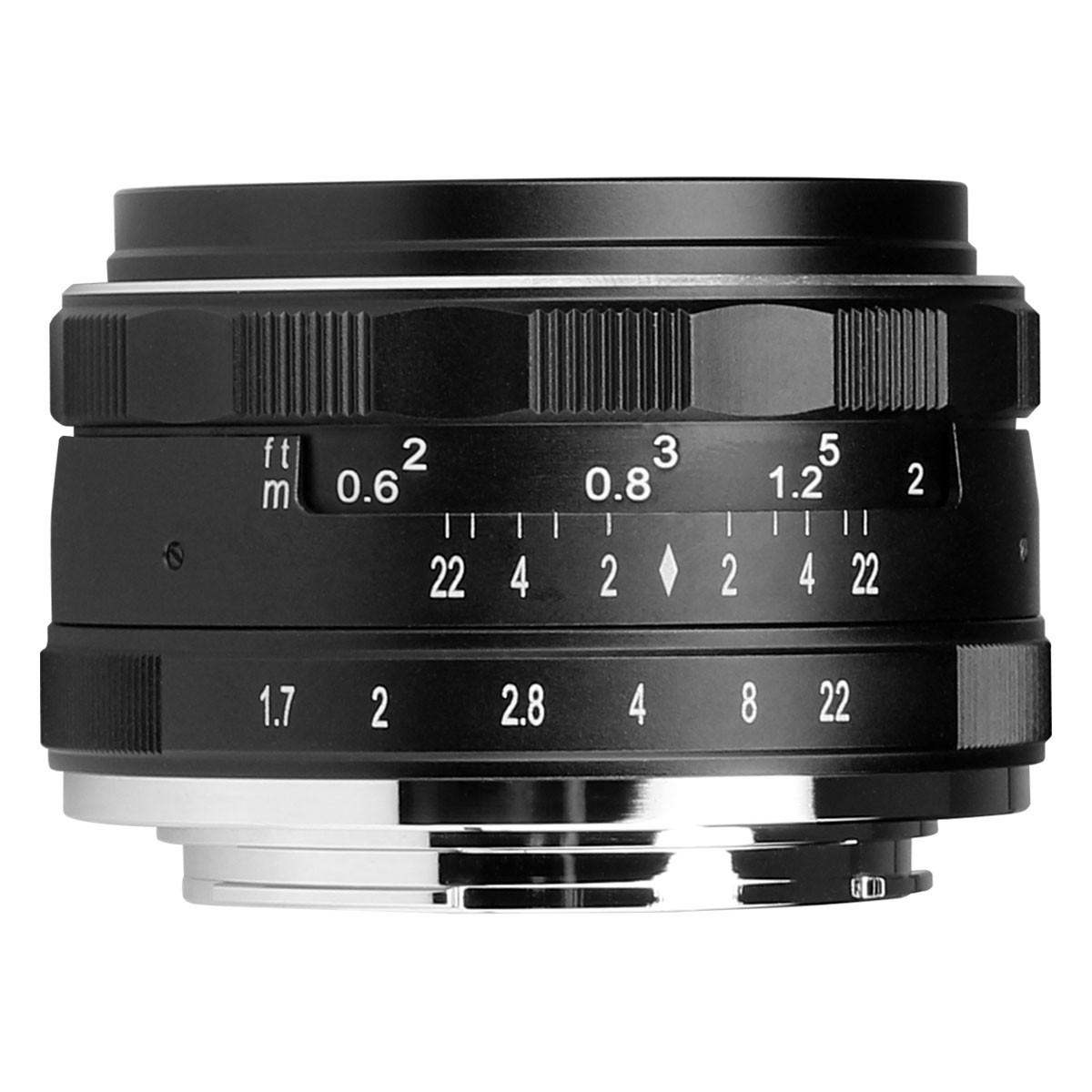 Meike 35mm APS-C F1.7 Manual Focus Lensa For Sony - FREE Kenko Pro1 UV